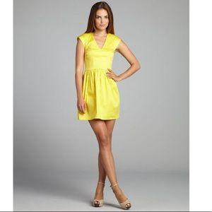 Yellow Grapefruit Cotton Cap Sleeve Dress